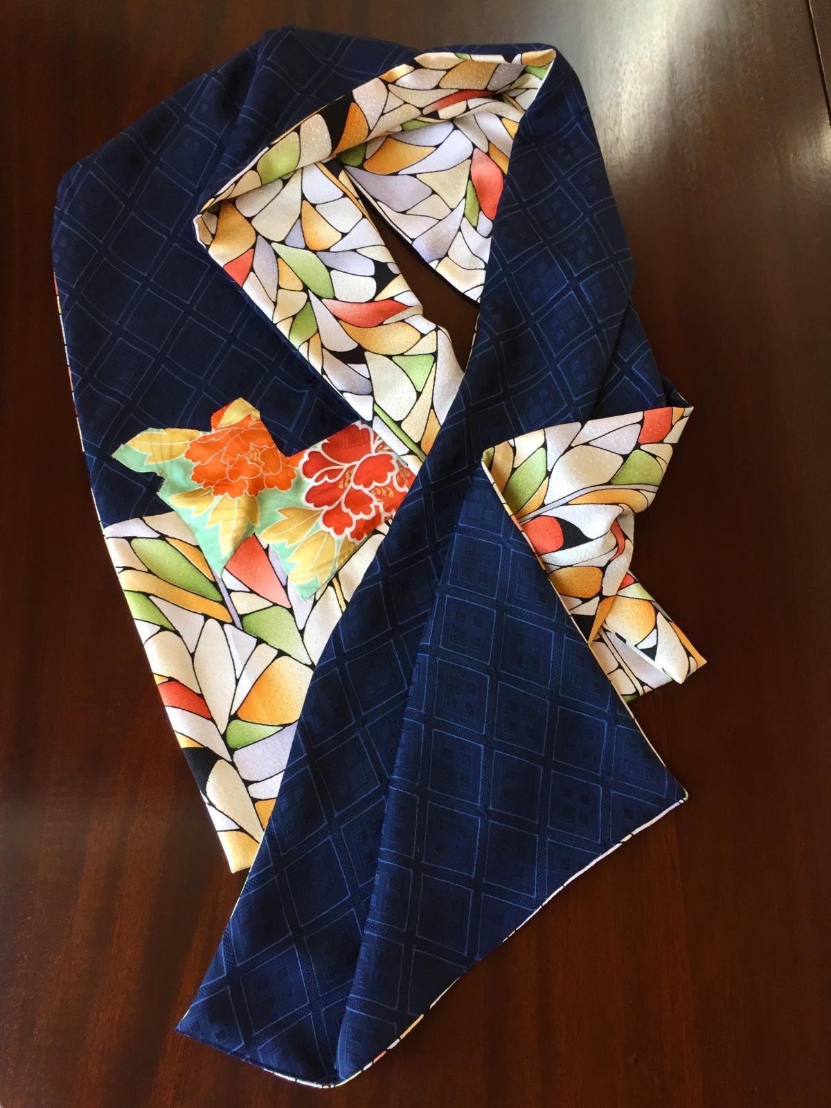 Scarves of Vintage Japanese KimonoSilk