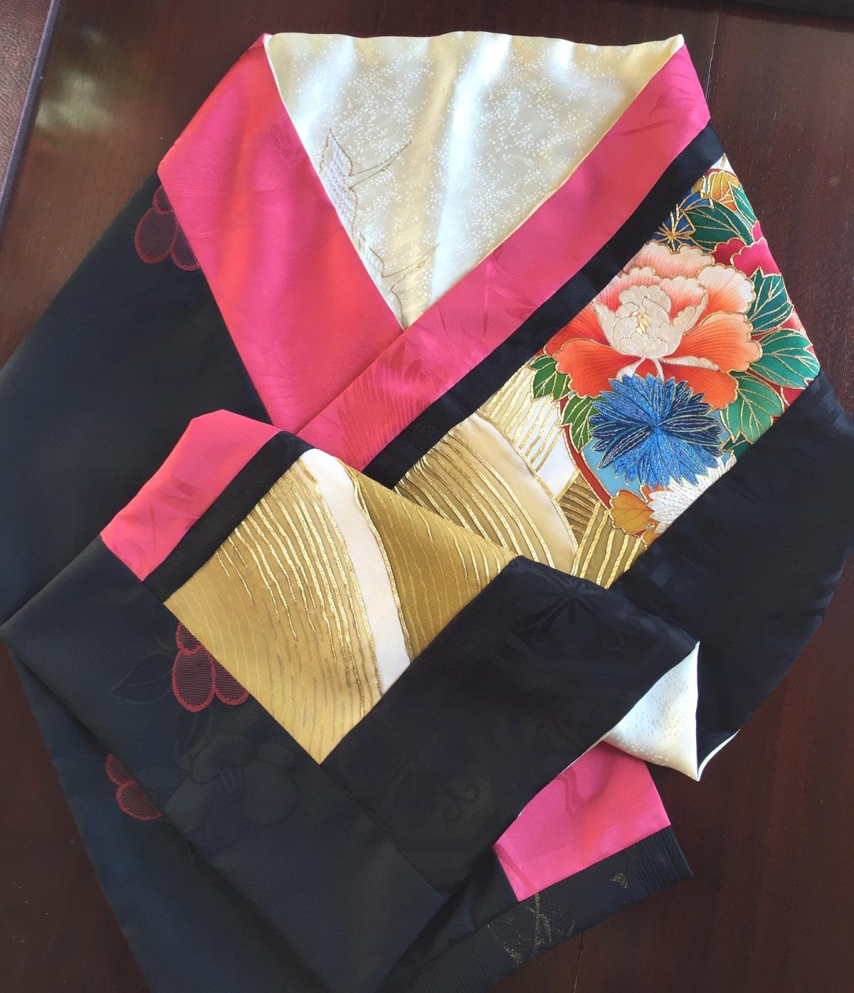 Here's a beauty: a kimono scarf step bystep